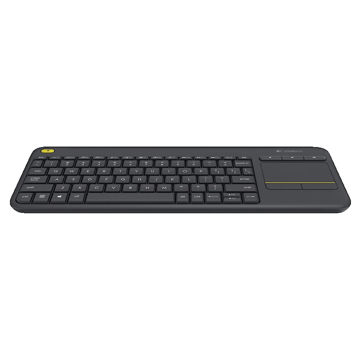 Trådlöst tangentbord med touchplatta K400 Plus Logitech