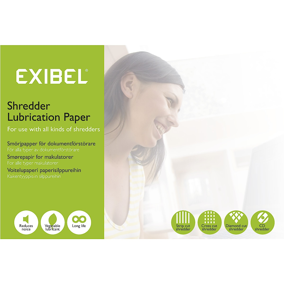 Exibel Shredder Lubrication Paper