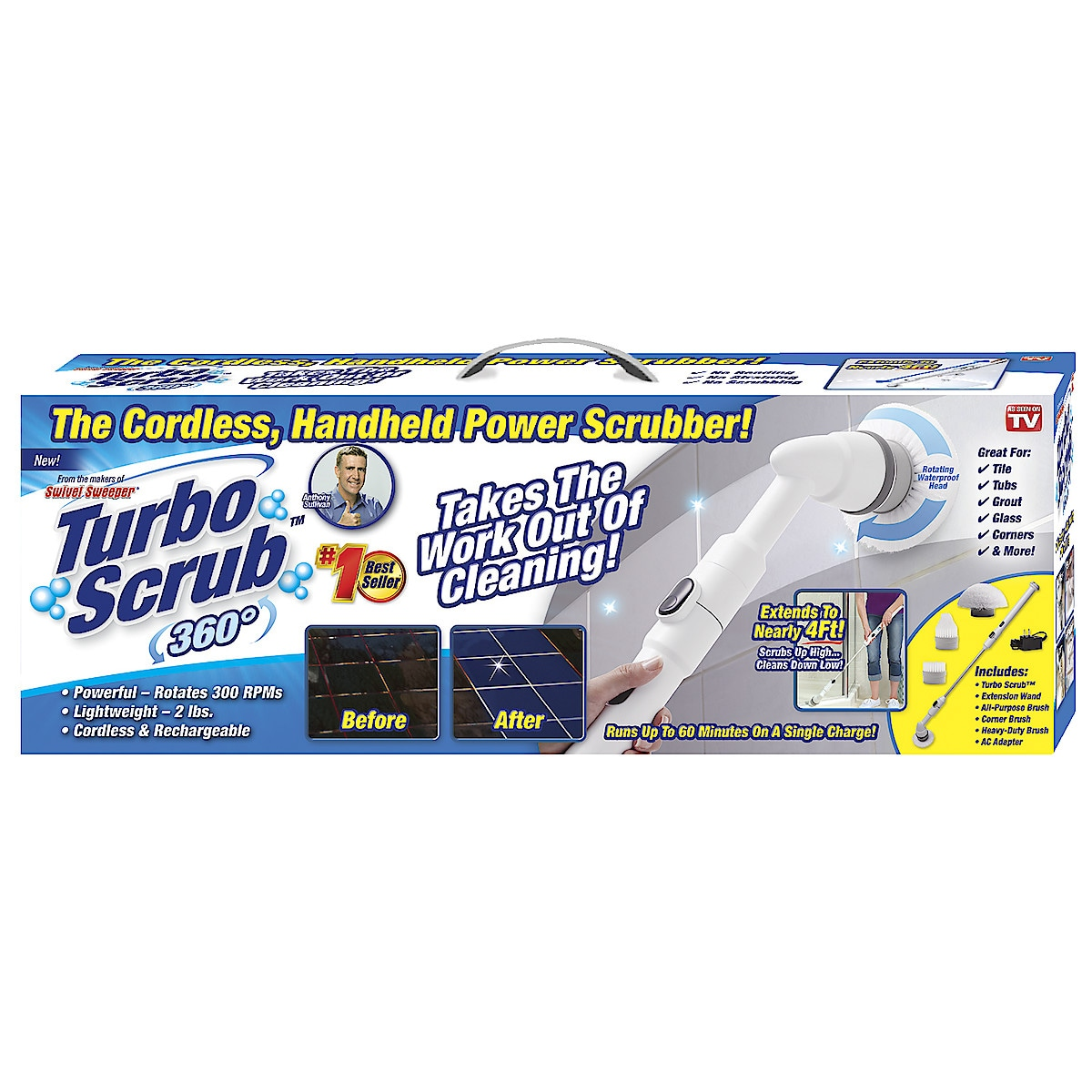 Elektrisk rengöringsborste Turbo Scrub