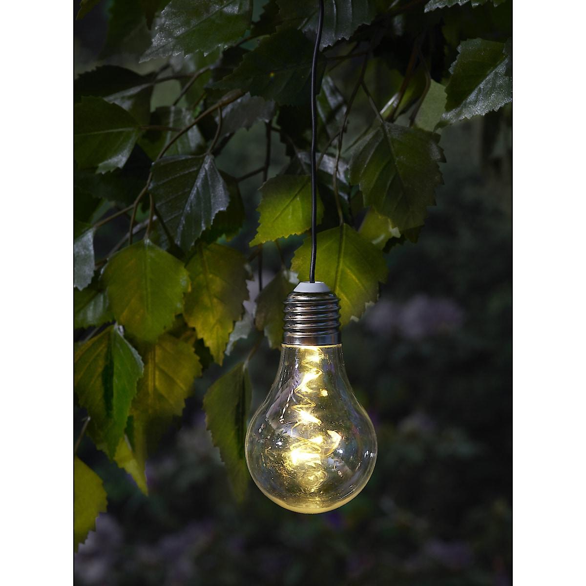 Hengende lampe med solceller
