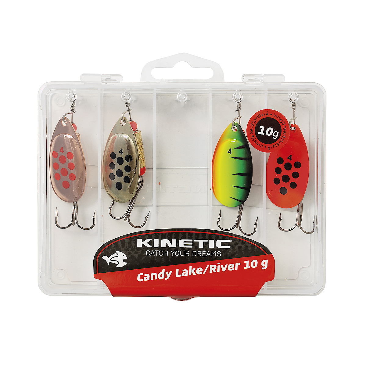 Kinetic Candy, spinnere, 10 g, 4 stk.