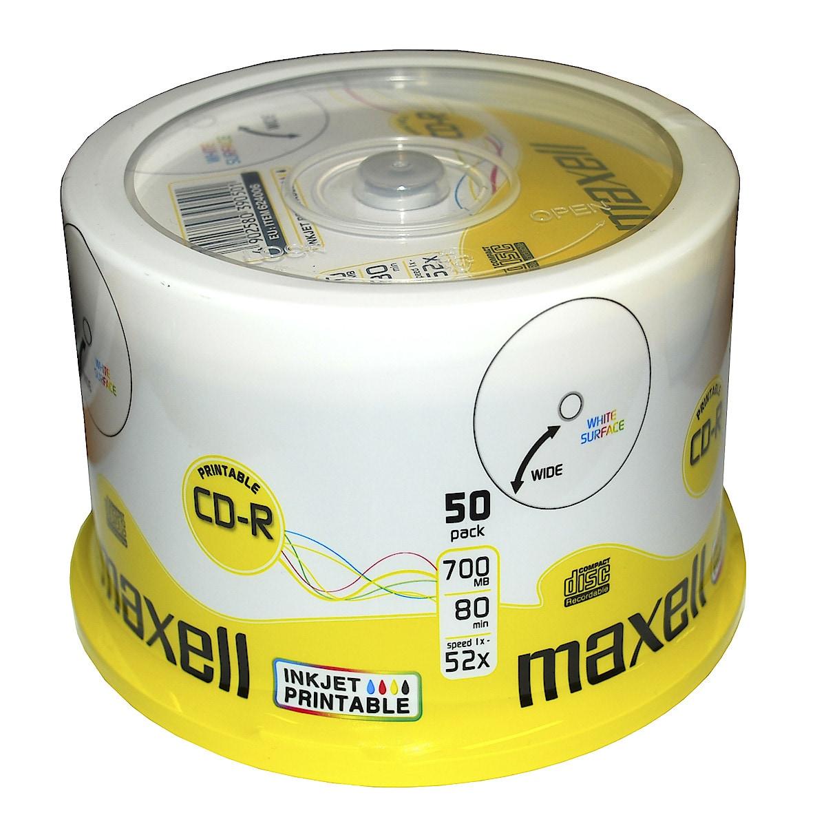 CD R-skiva 700 MB Maxell