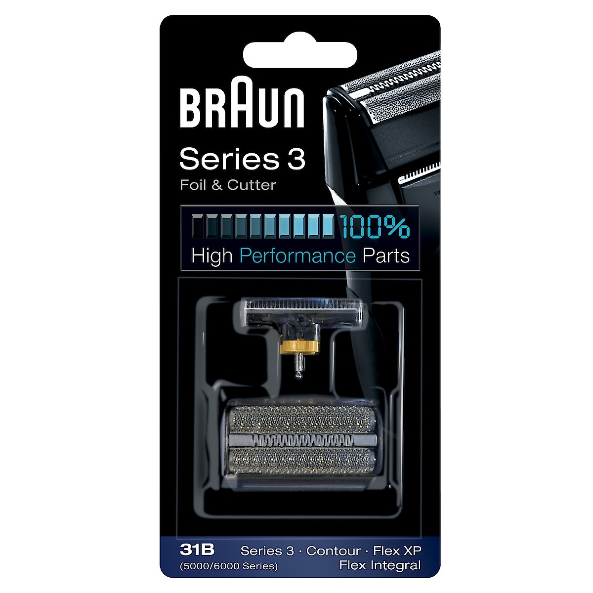 Vaihtoteräsarja 31B Braun-parranajokoneisiin