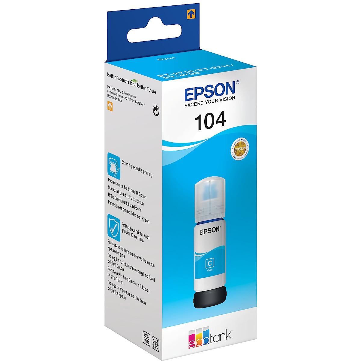 Bläckpatron 104 EcoTank Epson