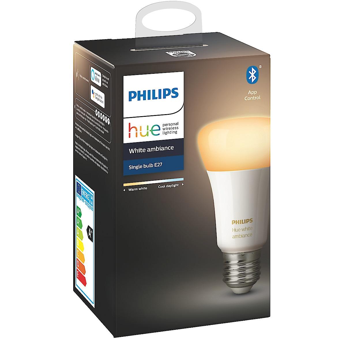 Philips Hue Ambiance LED-lampa 9 W E27, Bluetooth