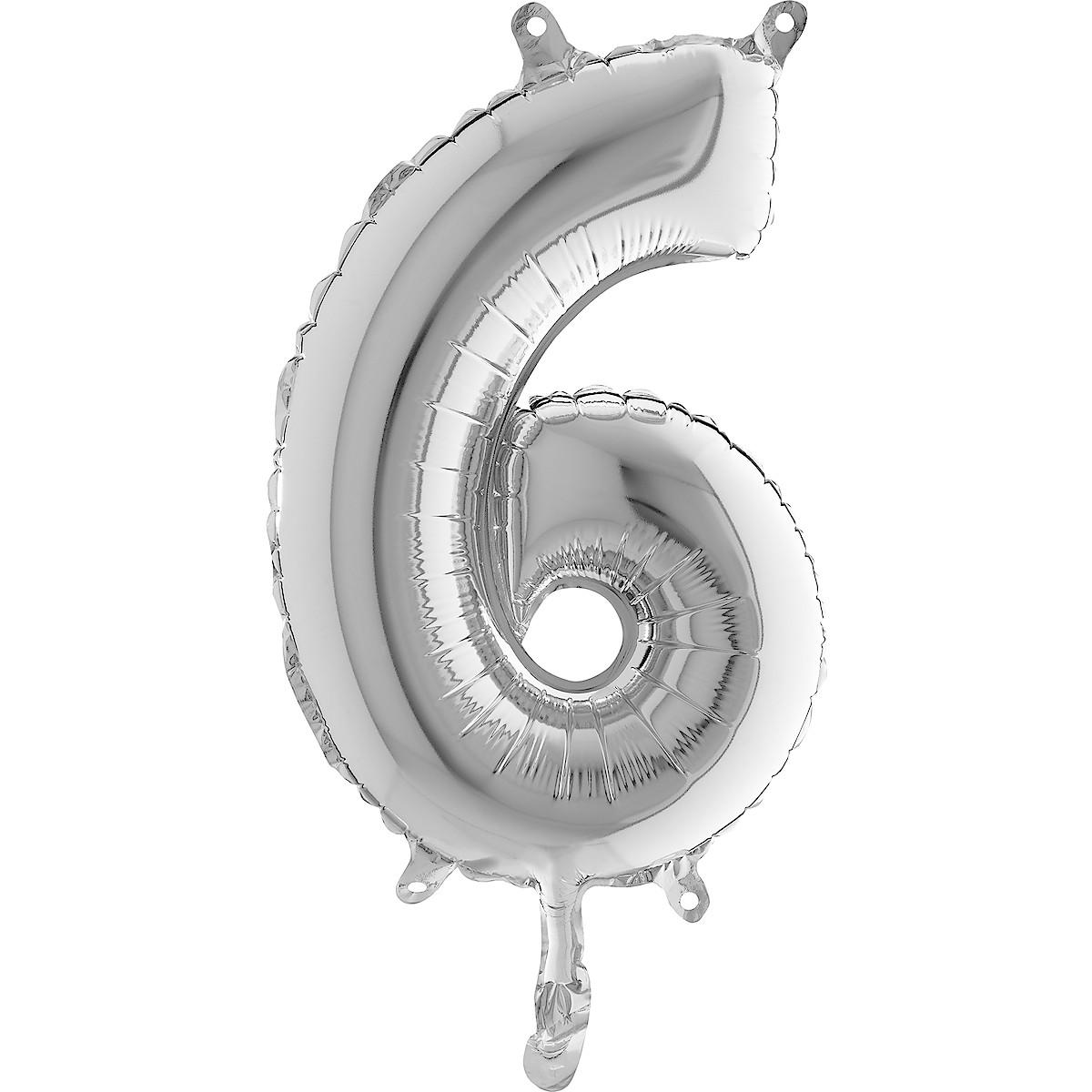 Sifferballong silver