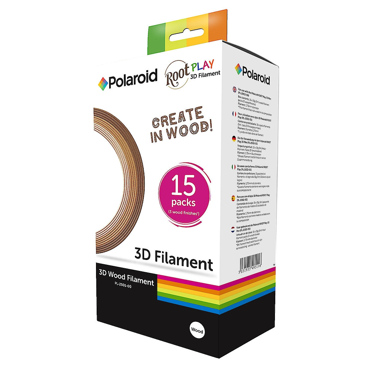 Filament Wood PLA till Polaroid Play 3D Pen