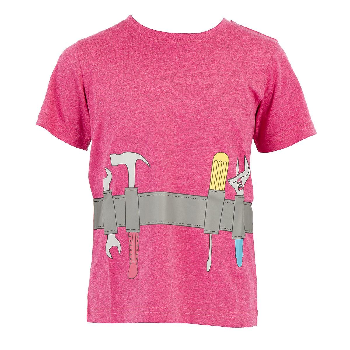 Children's Tool Belt T-Shirt, Pink