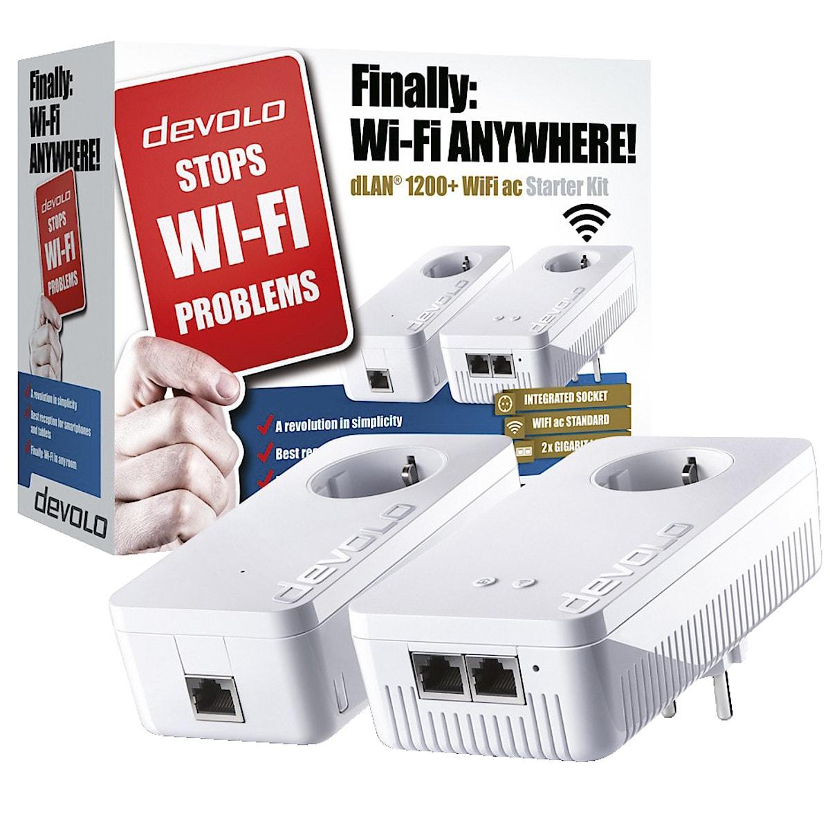 HomePlug Devolo dLAN 1200 + WiFi AC Starter Kit