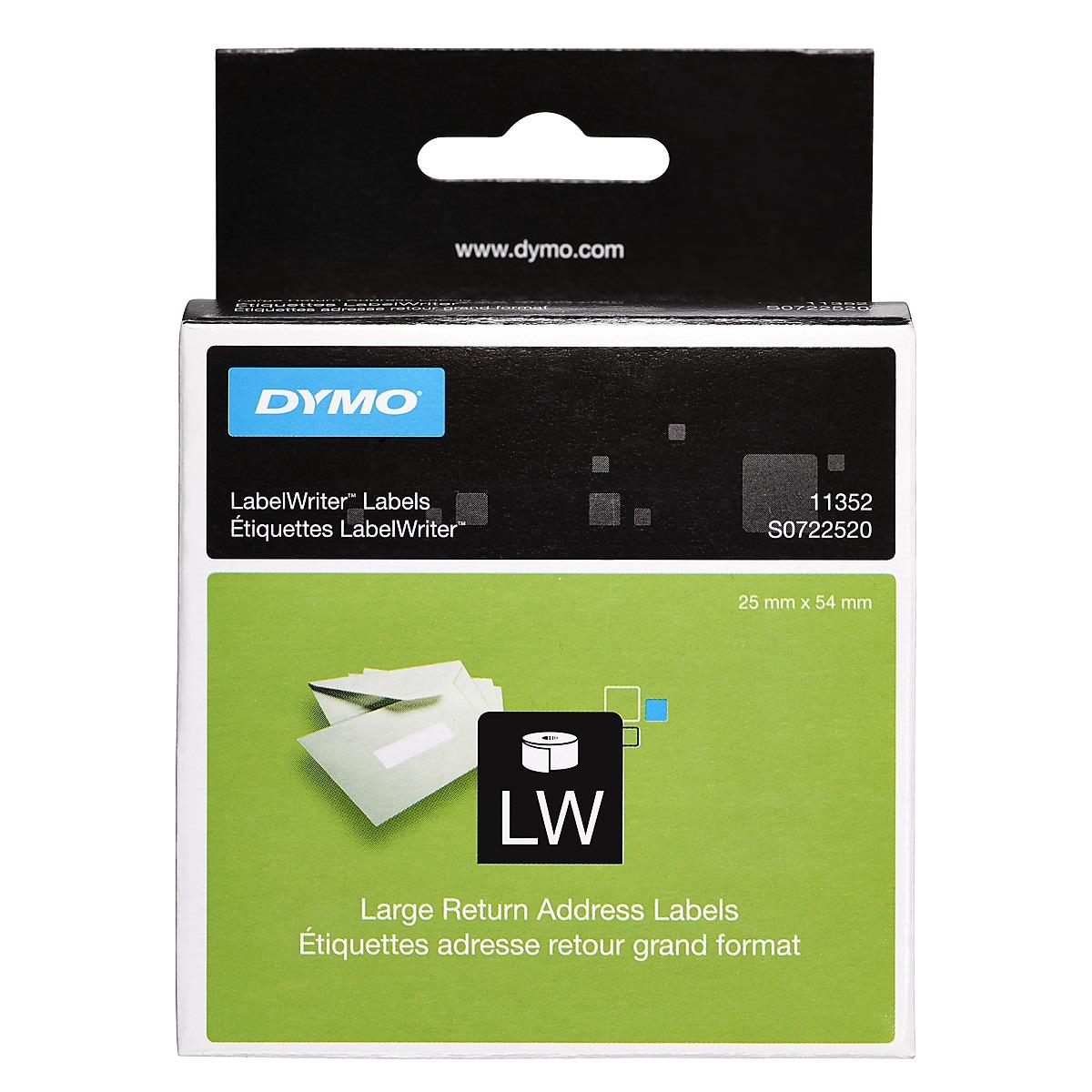 Suuret palautusosoite-etiketit Dymo LabelWriter