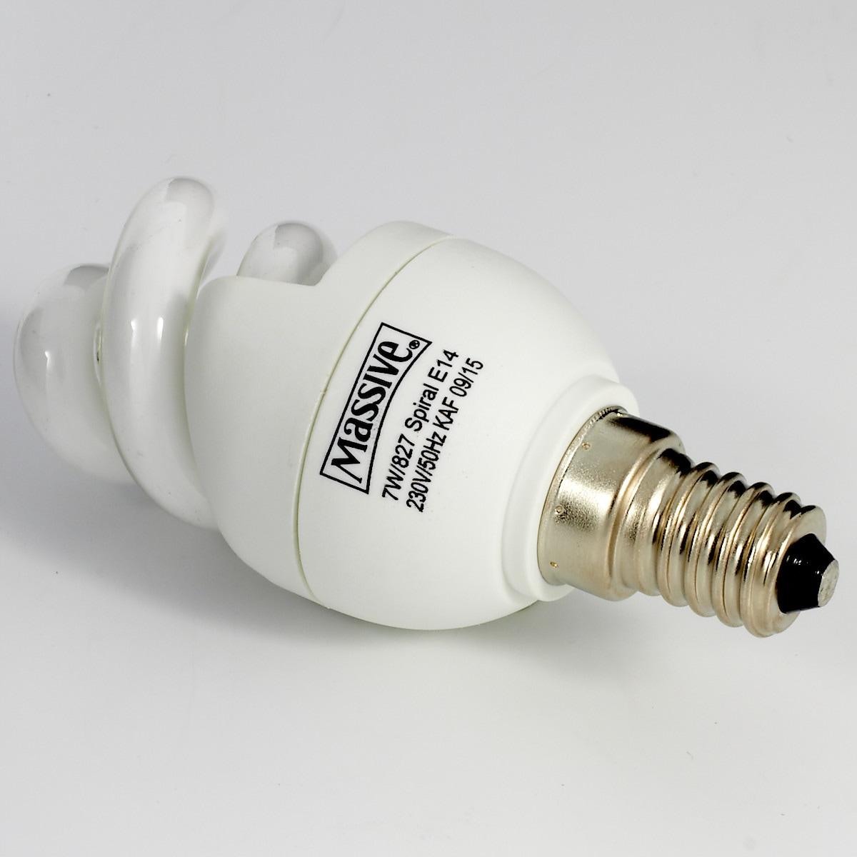 Energisparlampa Massive 7 W/827 E14