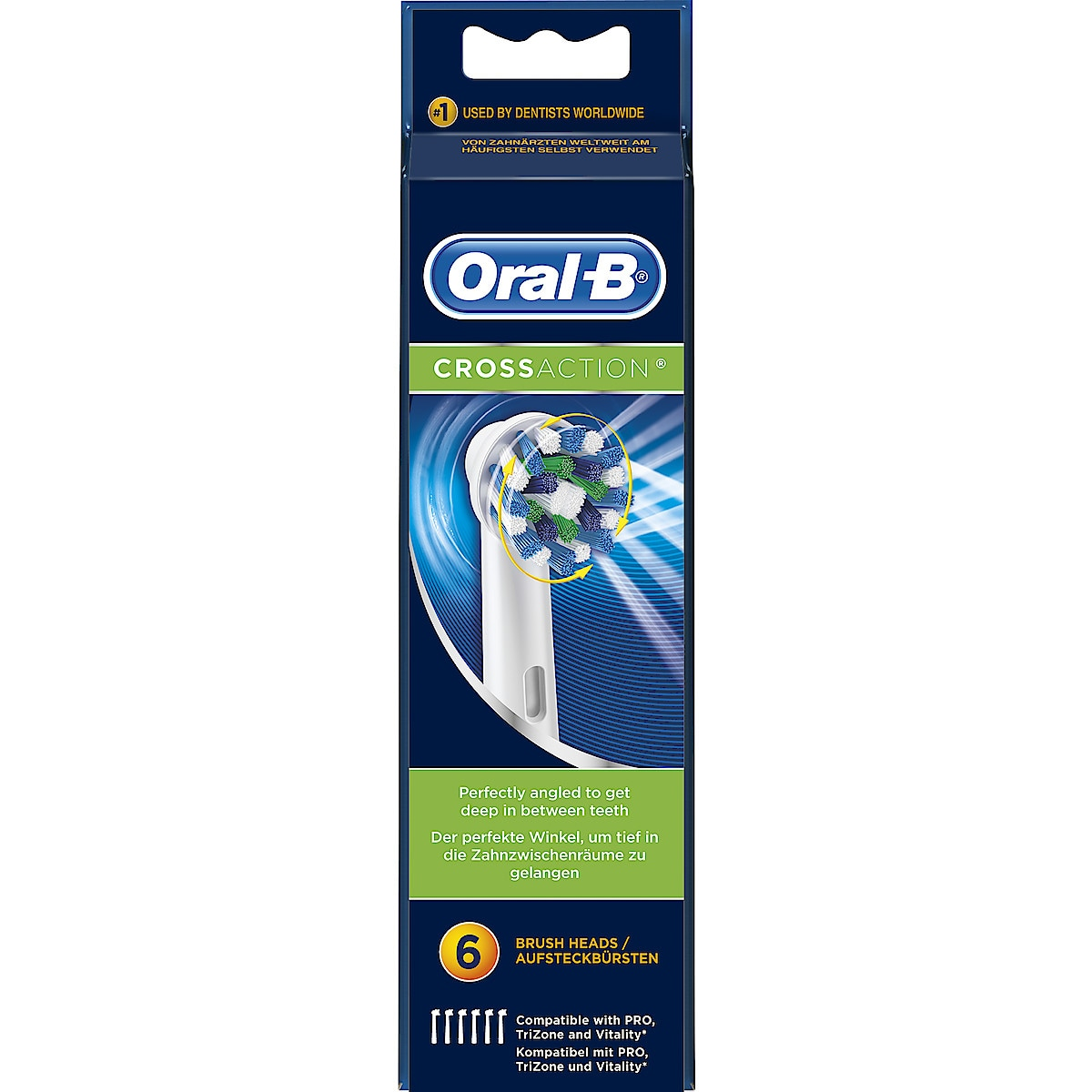 Harjaspää Oral-B Cross Action 6 kpl