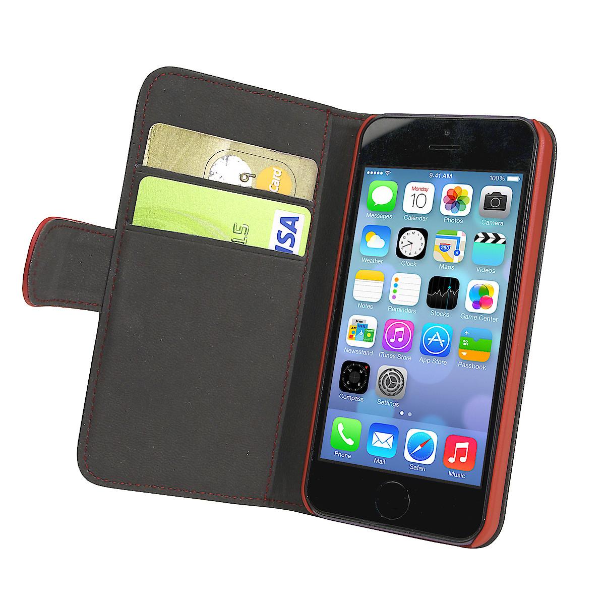 Lompakkokotelo iPhone 5:lle/5S:lle/SE:lle, Holdit