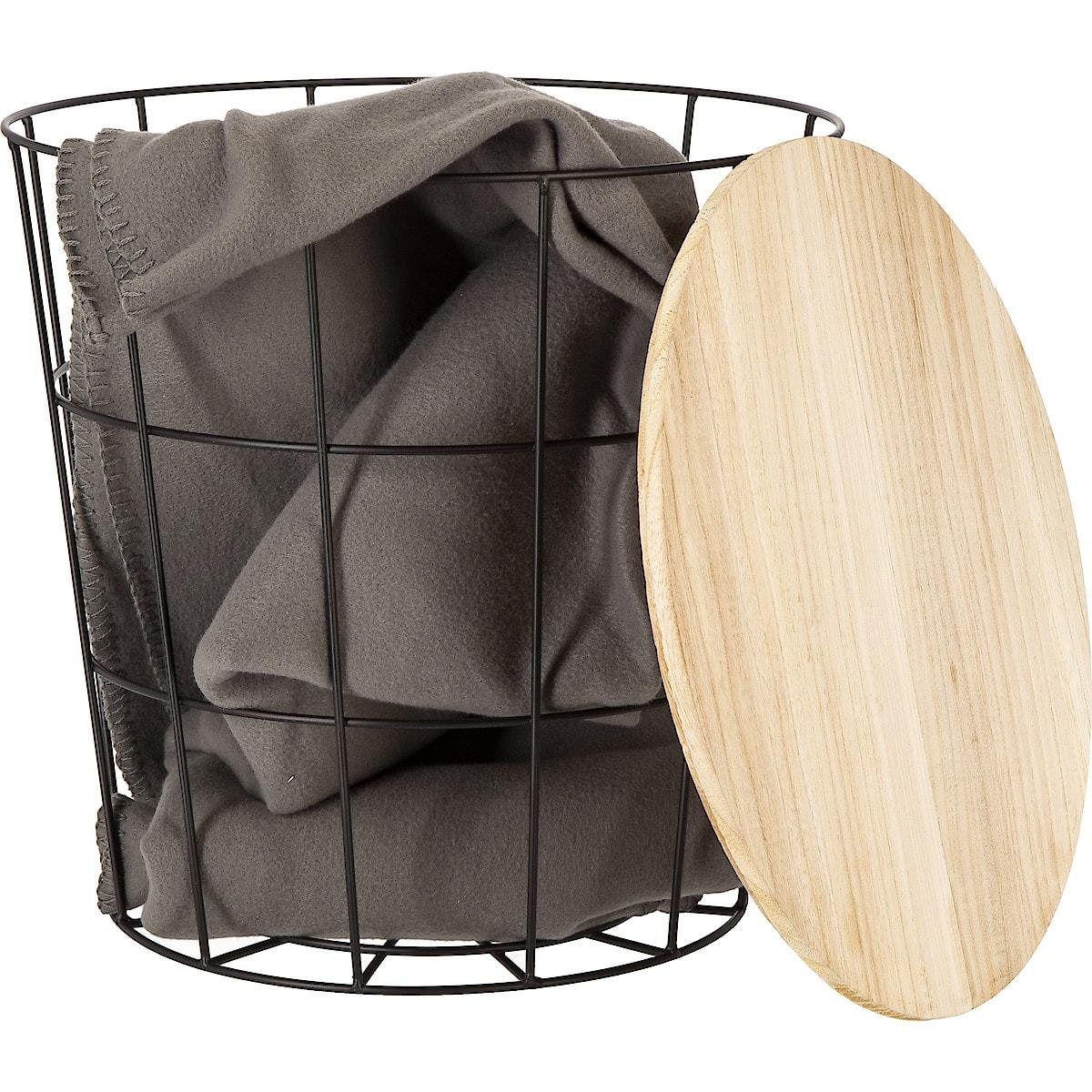 Avlastningsbord med förvaring, metall/trä