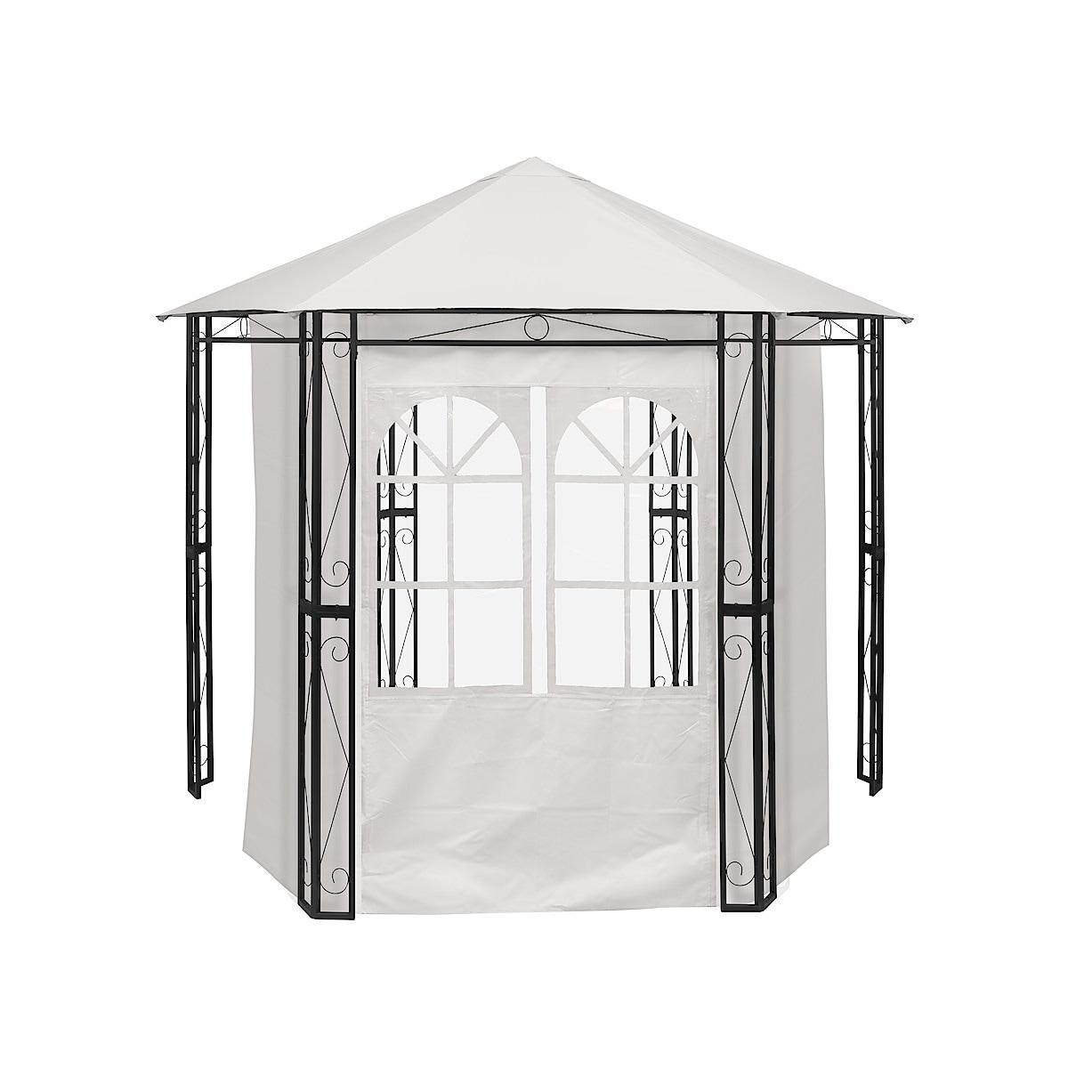 Vegg med vindu til hagepaviljong
