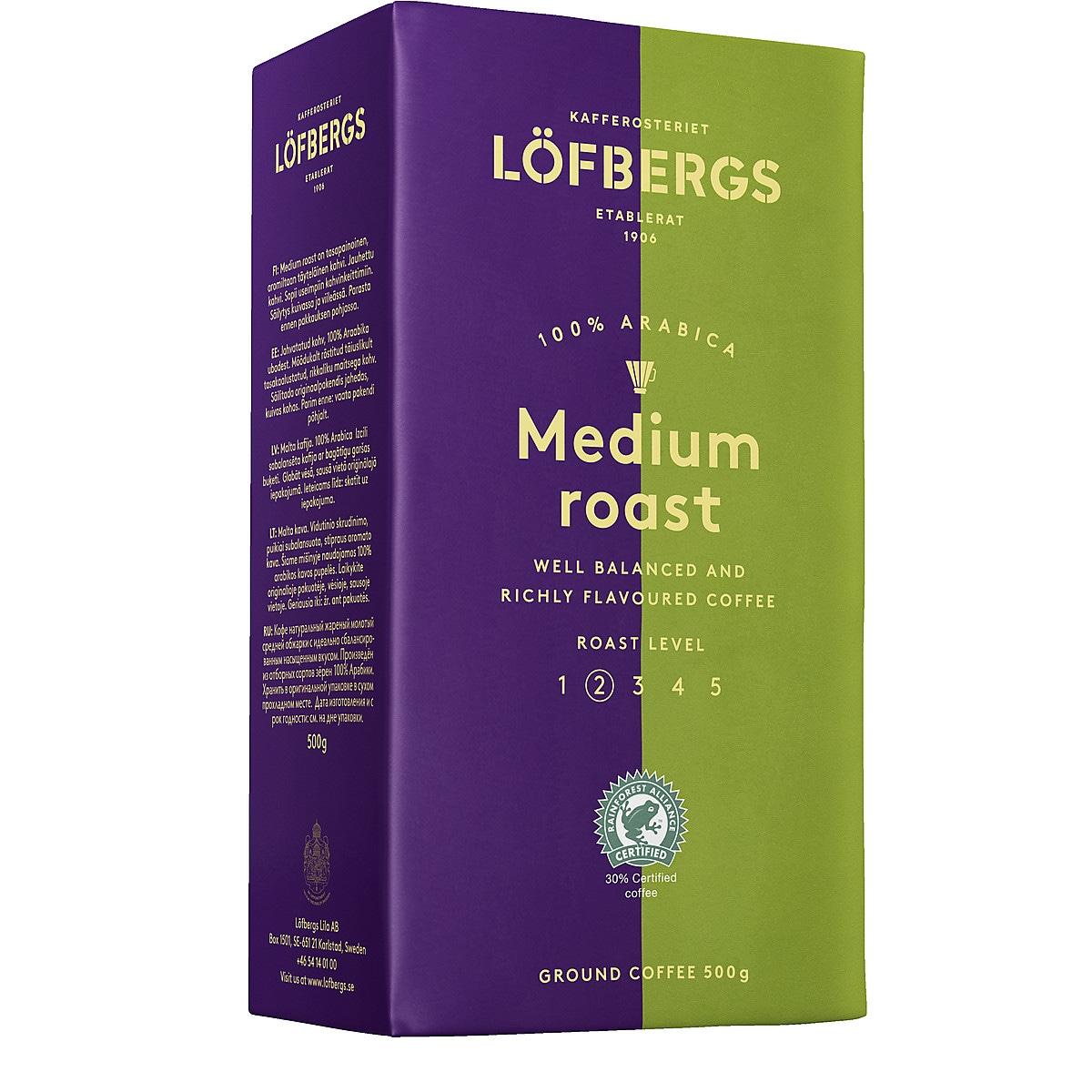 Lofbergs Lila Ground Medium Roast Coffee, 500 g