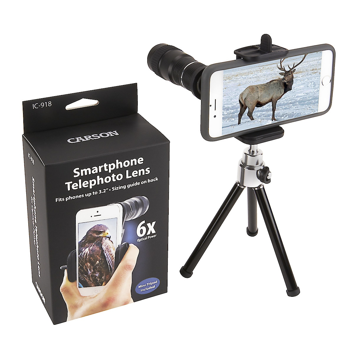 Objektiv für Smartphone Carson HookUpz 6x18 mm