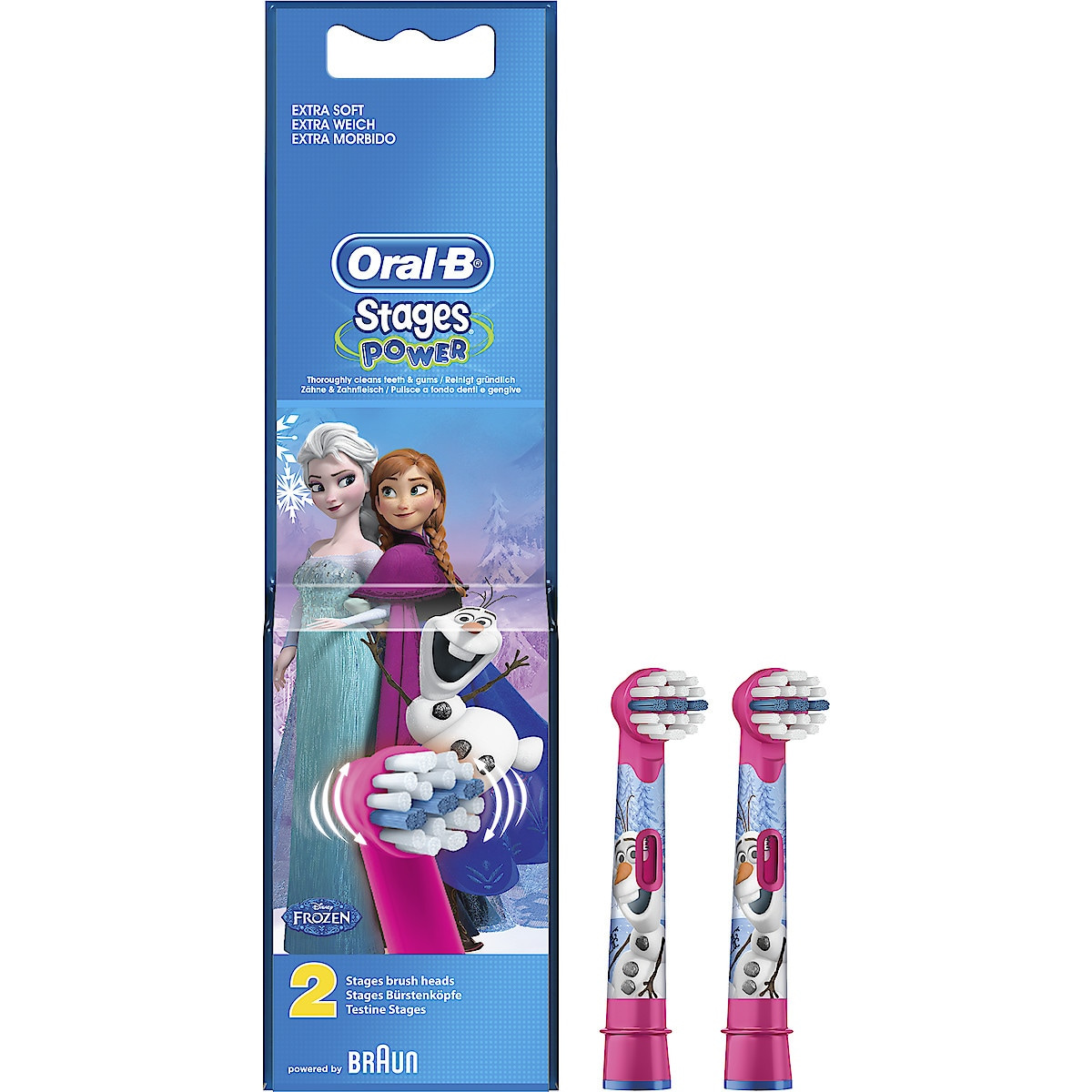 Borsthuvud refill Oral-B Stages Power Kids 2-pack