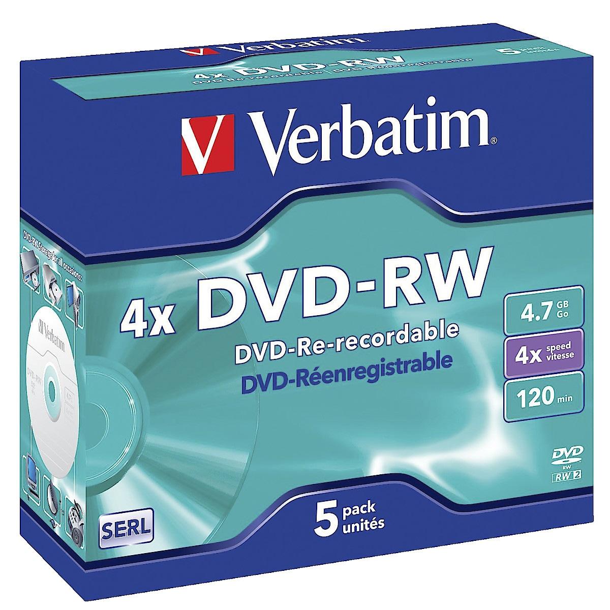DVD RW, 4.7 GB