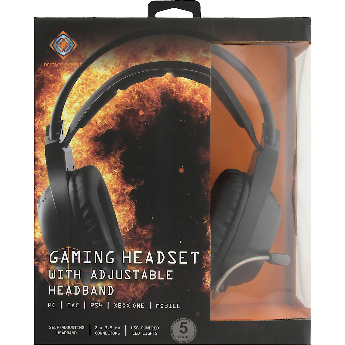 Gaming headset Deltaco GAM-069