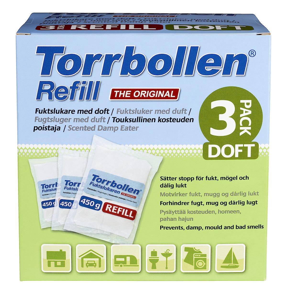 Refill med doft till luftavfuktare, 3-pack