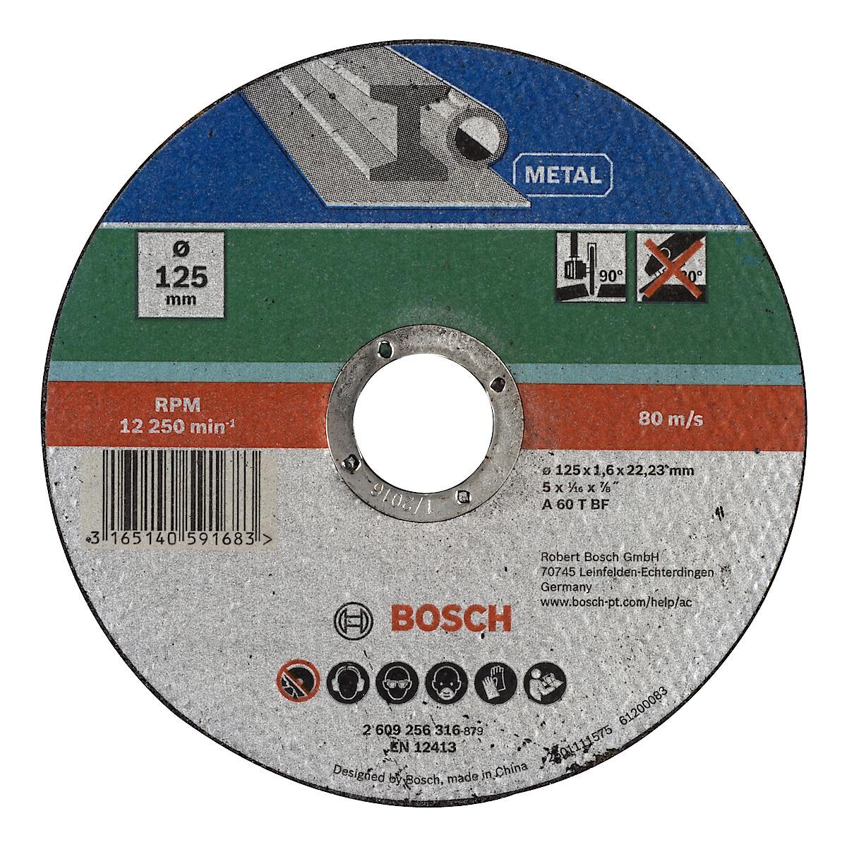 Kapskiva för metall 125 mm, Bosch