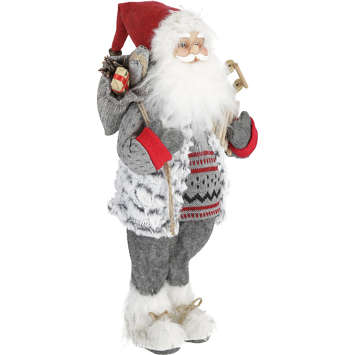 Weihnachtsmann mit Geschenksack, 46 cm