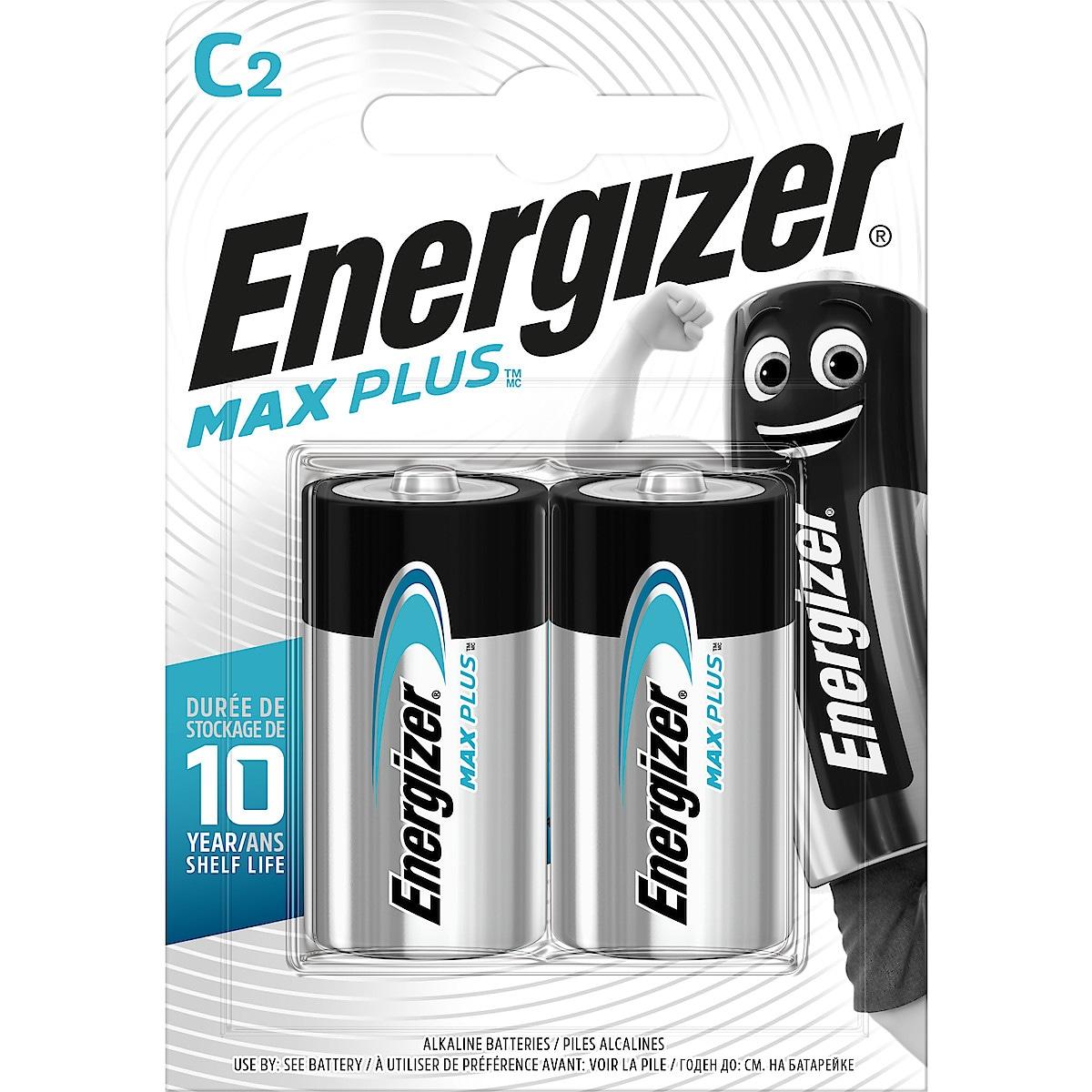 Energizer Max Plus C/LR14 alkalisk batteri