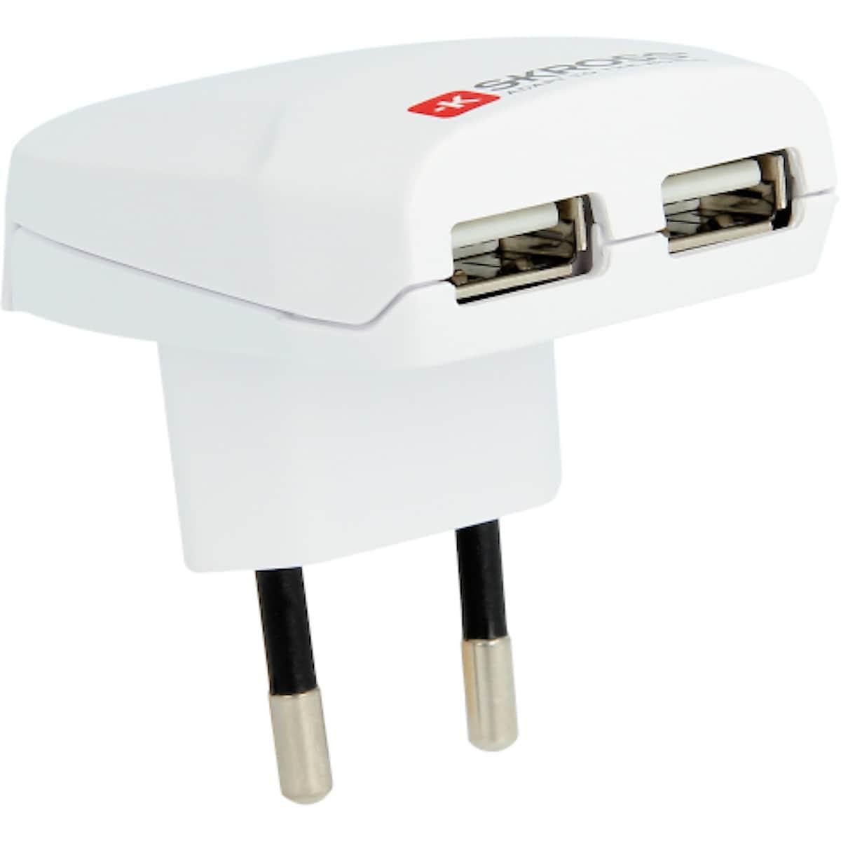 USB laddare med dubbla uttag, SKROSS | Clas Ohlson