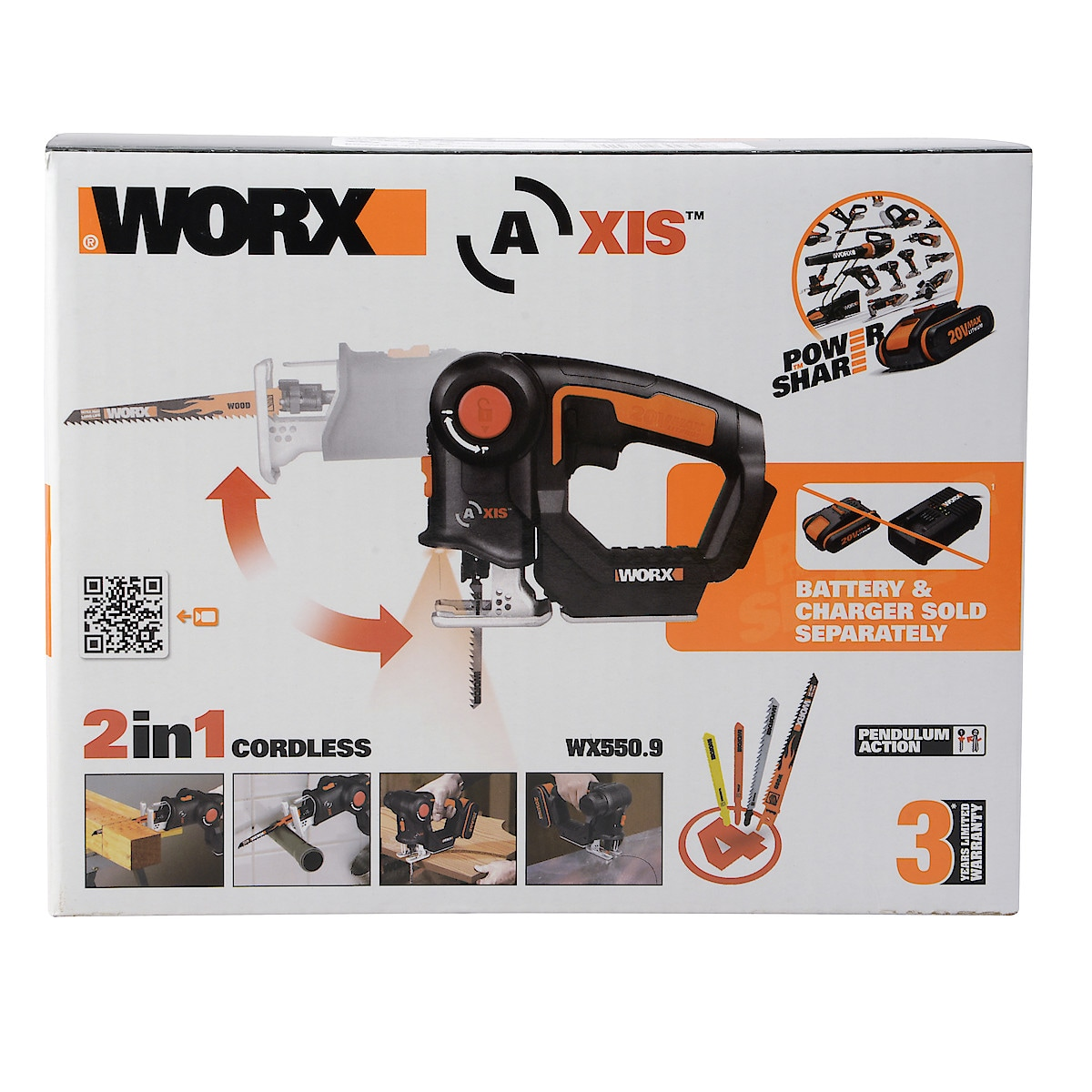 Multisåg Worx WX 550.9