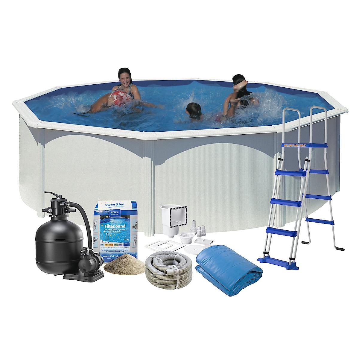 Stålramspool komplett Ø 4,6 m Swim & Fun