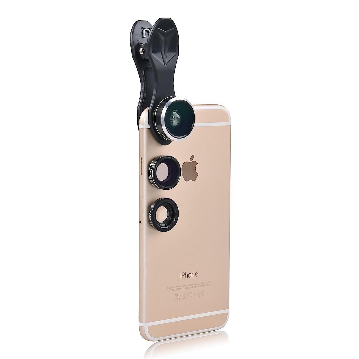 Linser till mobilkamera 3-i-1