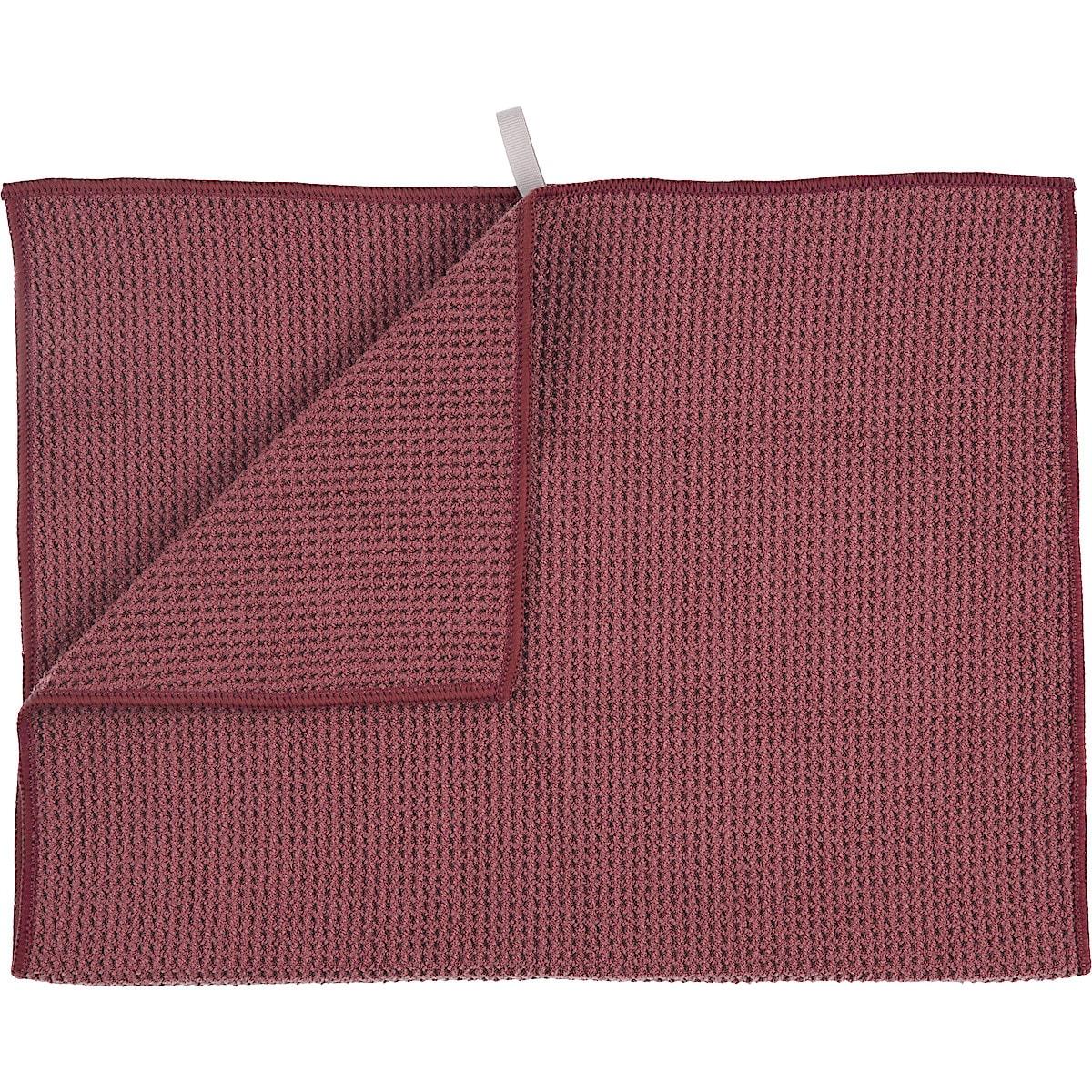 Kökshandduk burgundy waffle, Smart Microfiber