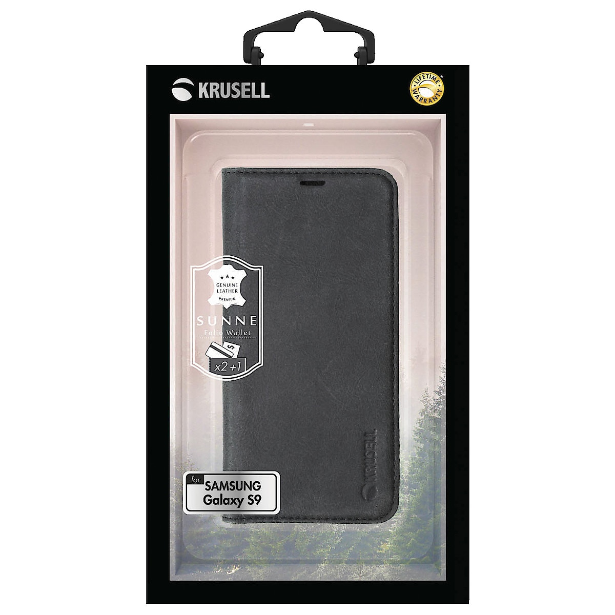 Krusell Sunne FolioCase lommebokfutteral for Samsung Galaxy S9