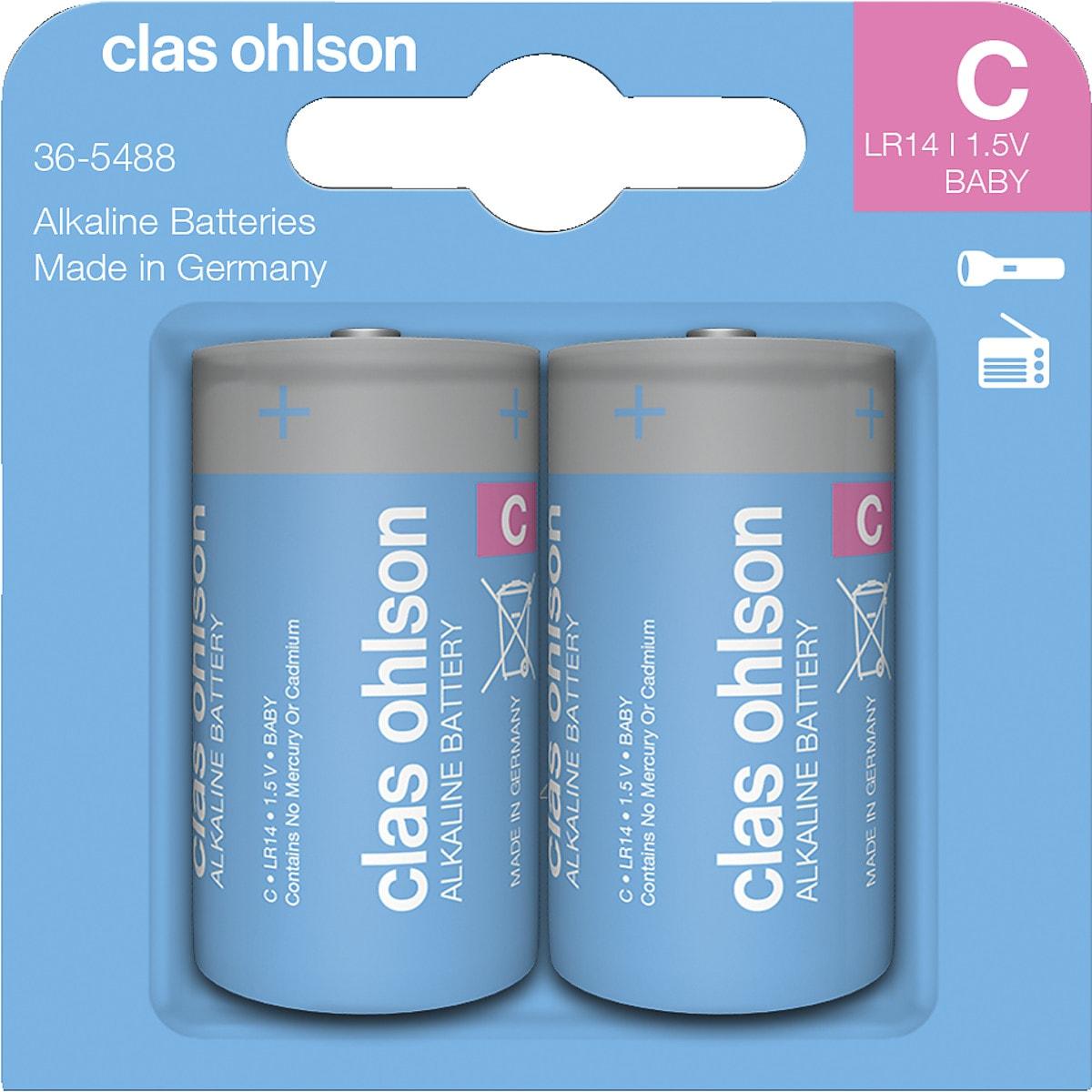 Alkalische Batterie C/LR14 Clas Ohlson