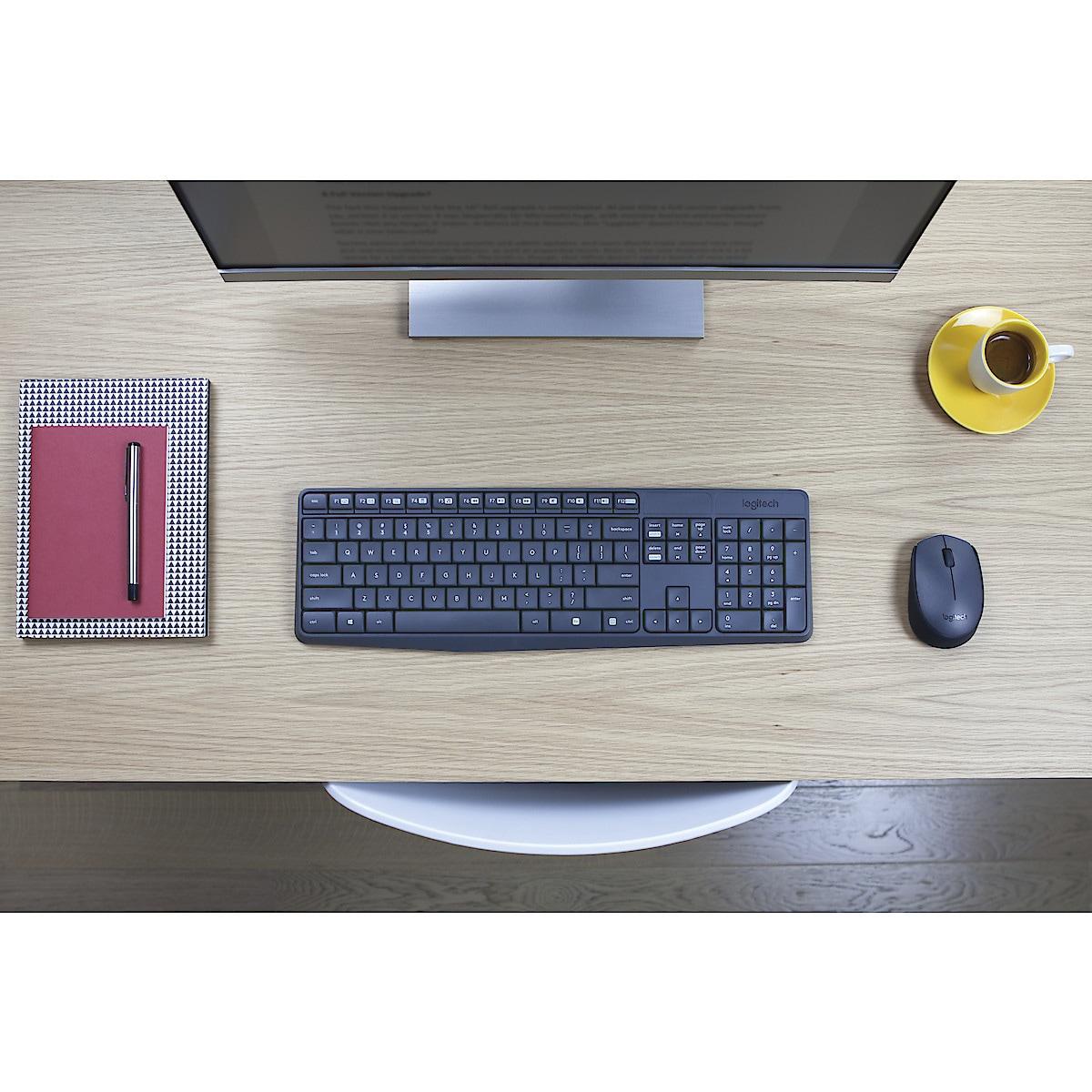 Langaton näppäimistö ja hiiri, Logitech MK235
