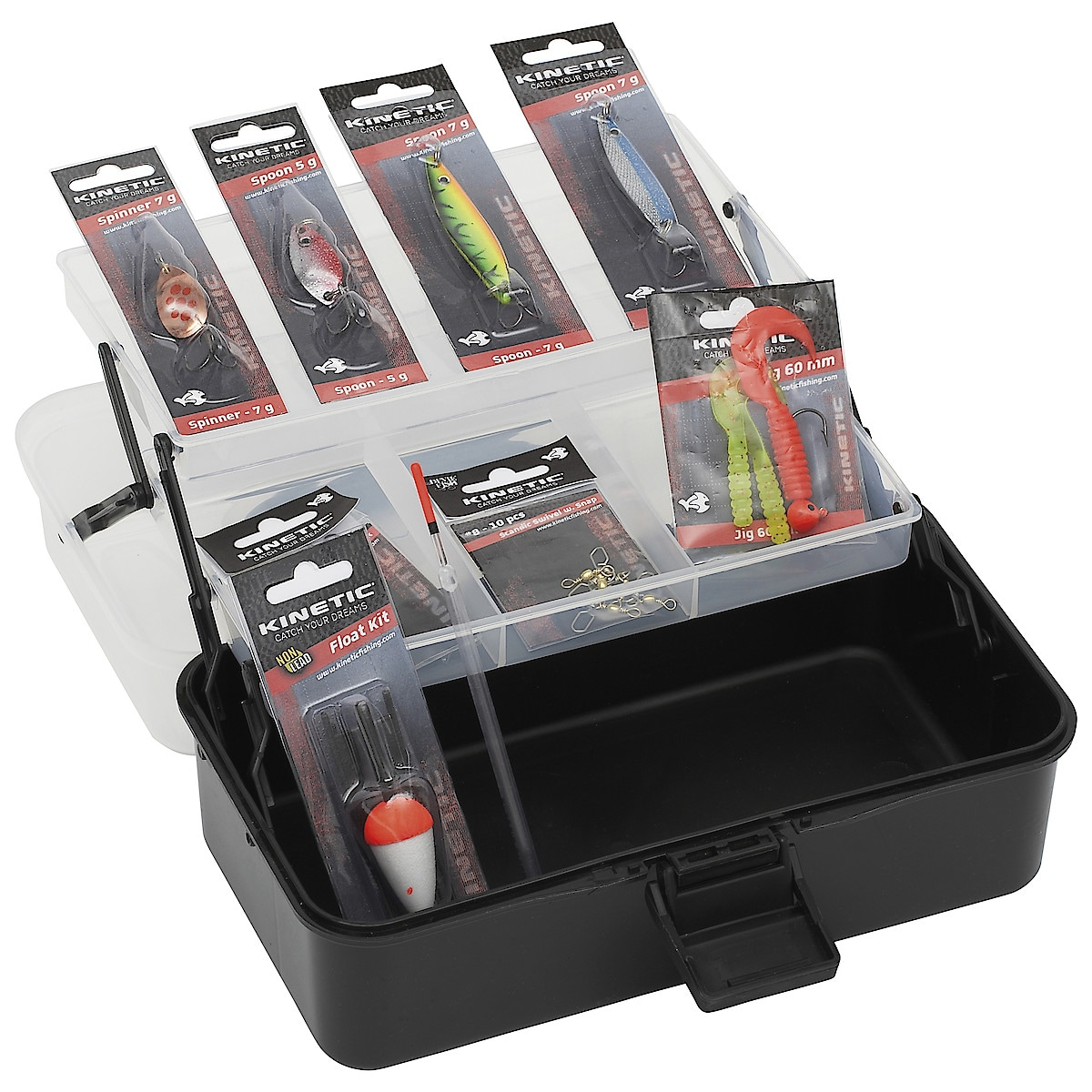 Kinetic Tackle Box Kit Freshwater, fiskeskrin
