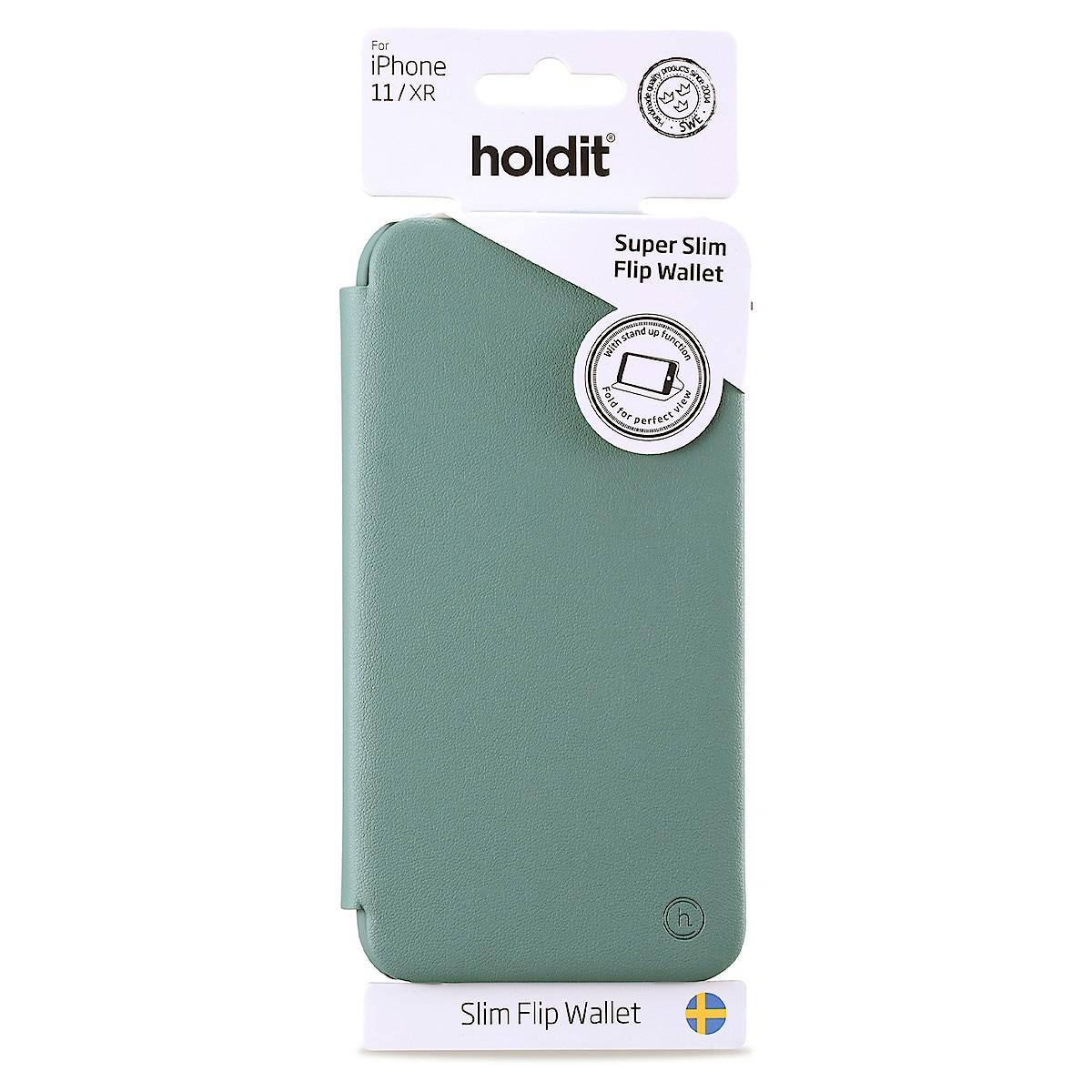 Holdit Slim Flip för iPhone 11, flipfodral