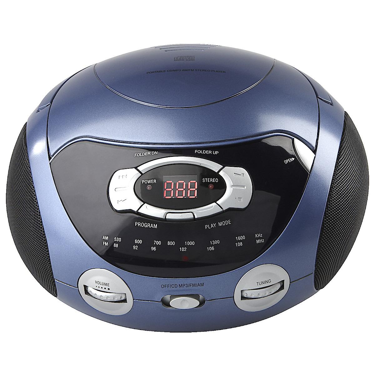 CD/MP3-spelare med radio