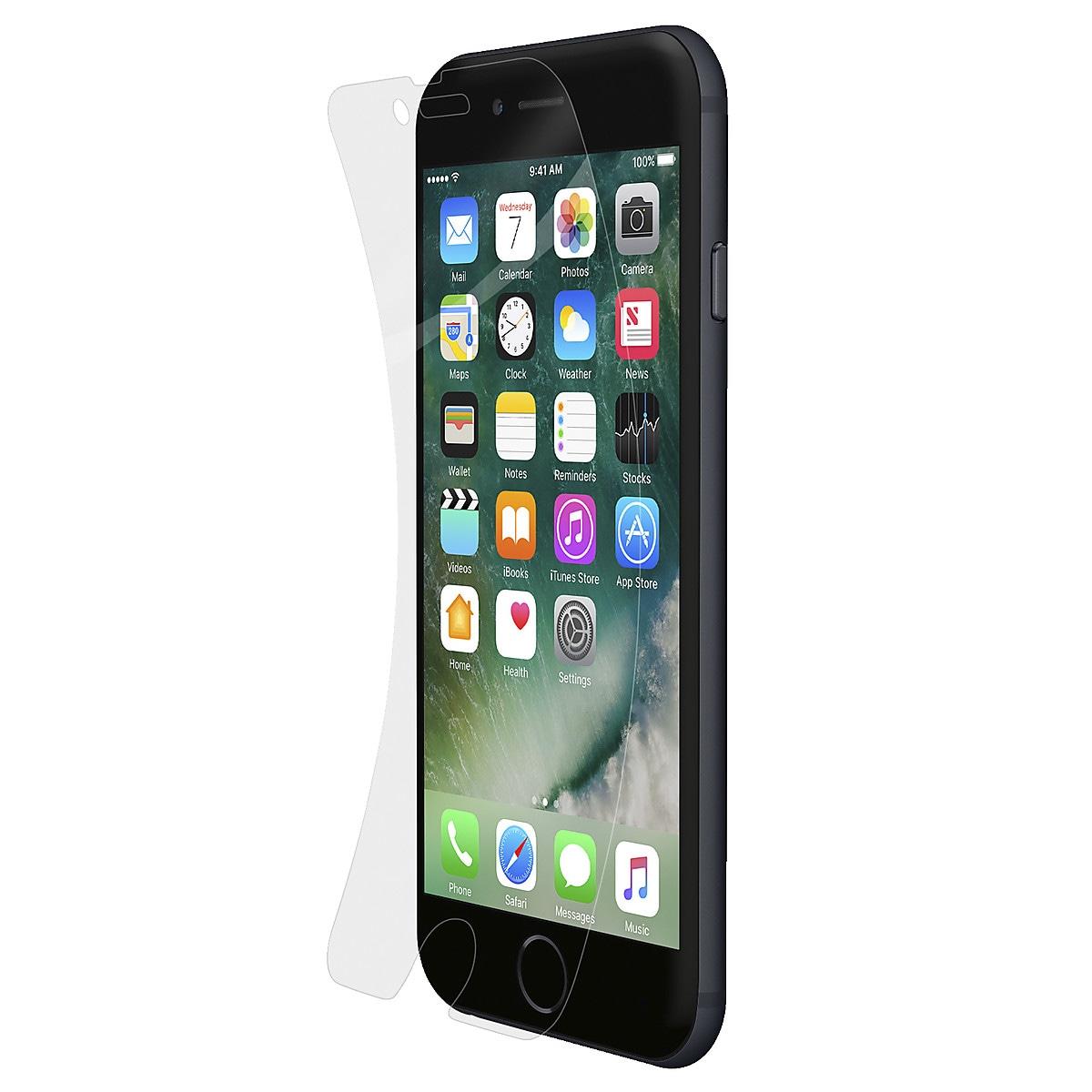 Displayskydd i glas för iPhone 7, Belkin Invisiglass