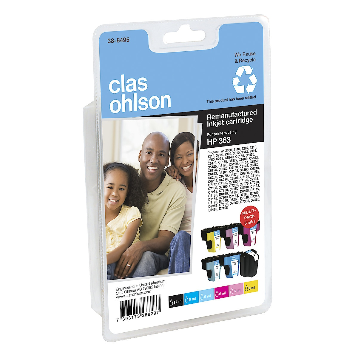 Clas Ohlson HP 363 Multipack Ink Cartridges