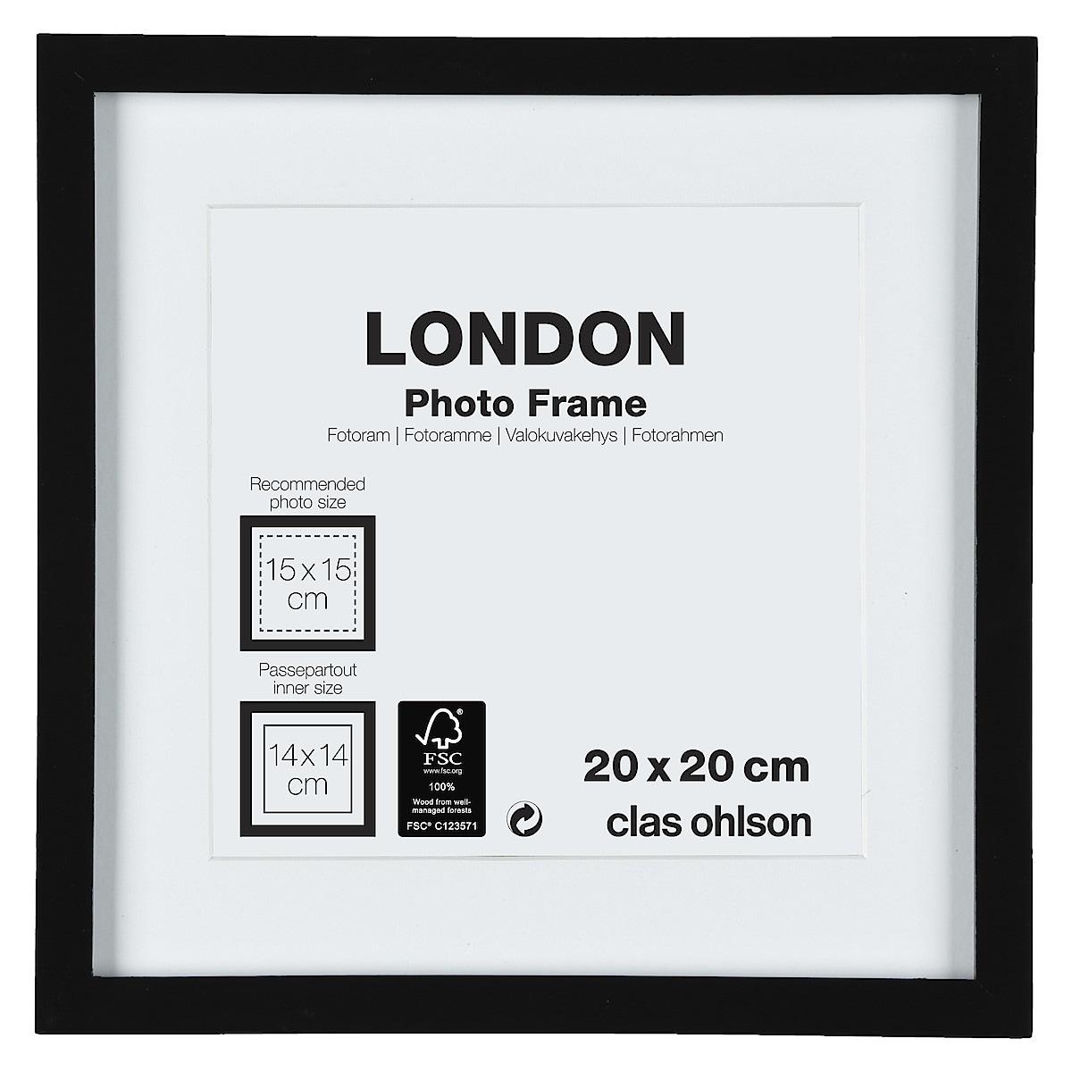 Fotoram London svart