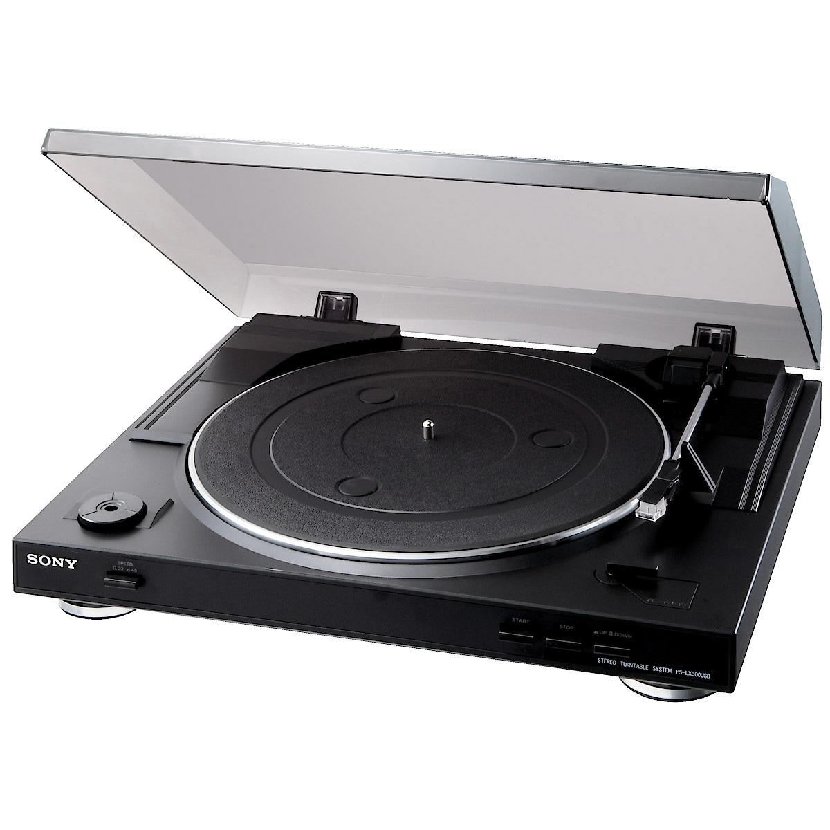 Skivspelare med USB-utgång Sony PS-LX300USB