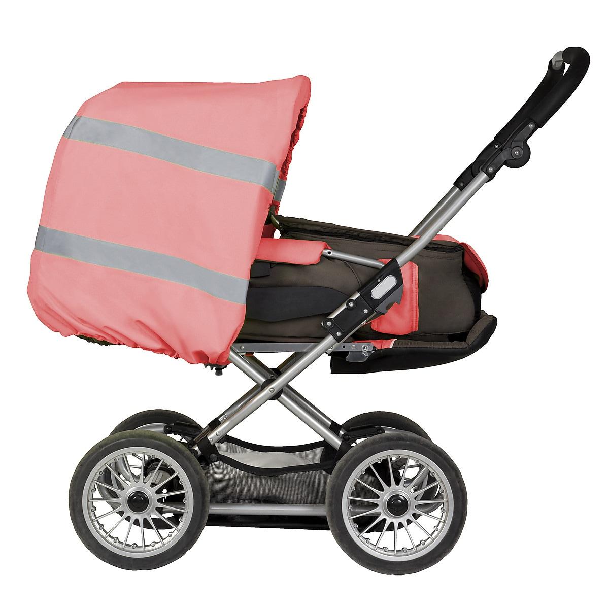 Regnöverdrag med reflekterande material för barnvagn