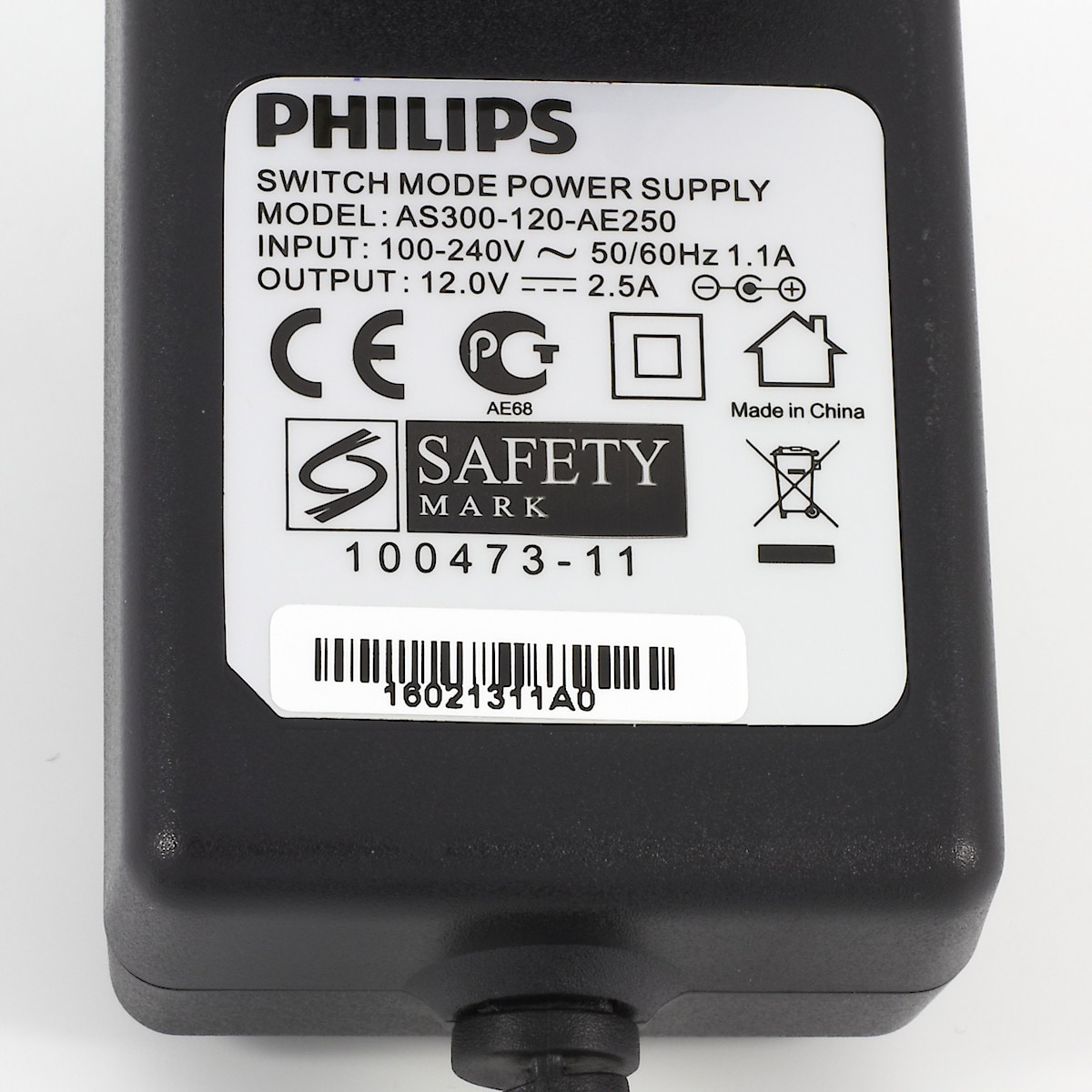 Nettadapter Philips 12 V/2,5 A