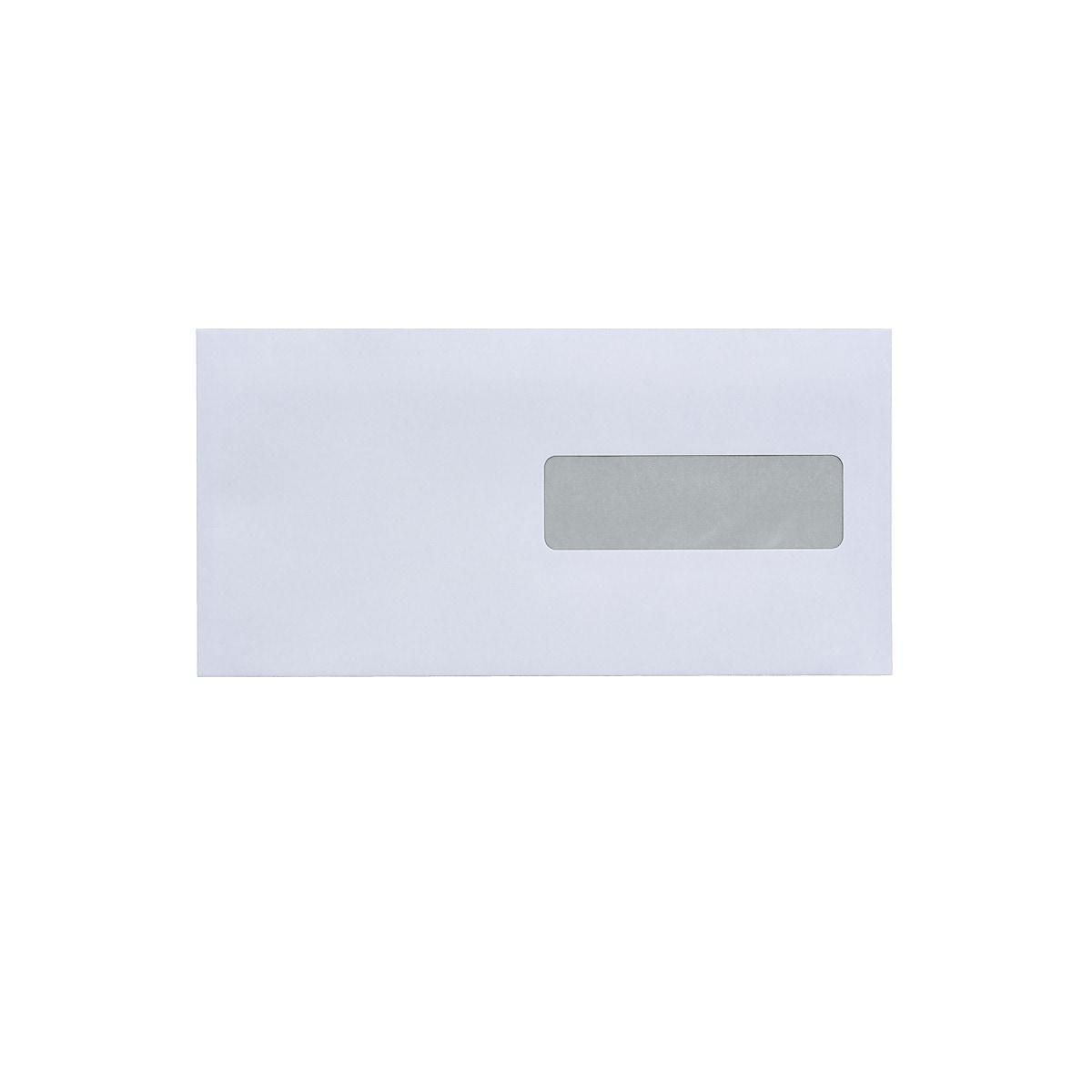 Fönsterkuvert E65 H2, vita, 50-pack