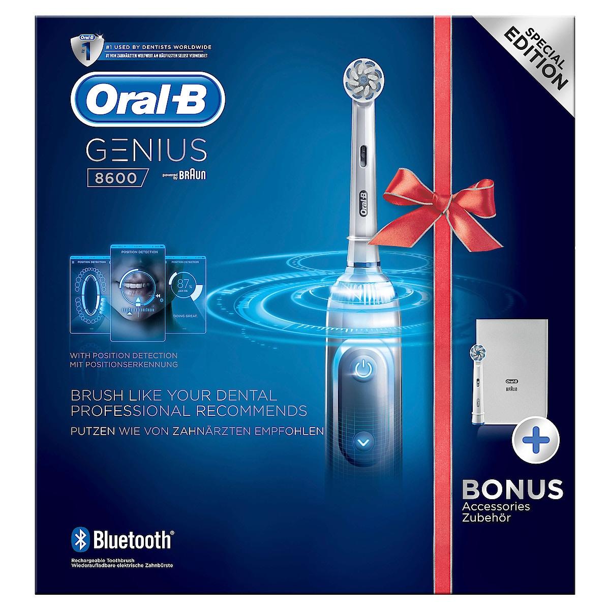 Eltandborste Oral-B Genius 8600 Silver