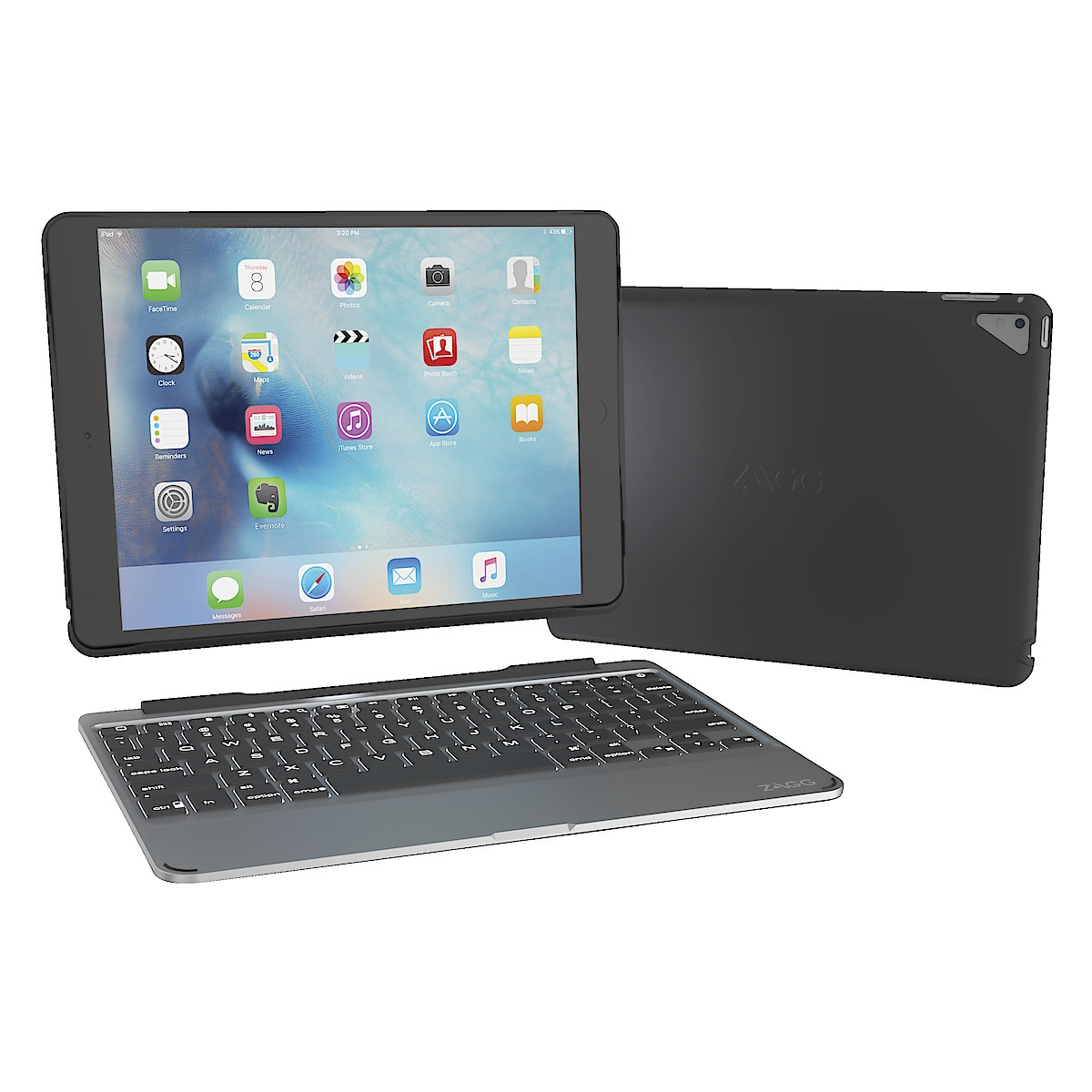 Zagg Slim Book, futteral med tastatur for iPad Pro 9,7
