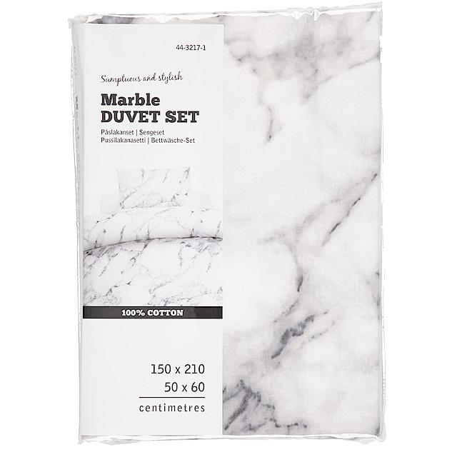 marmor täcke och kudde