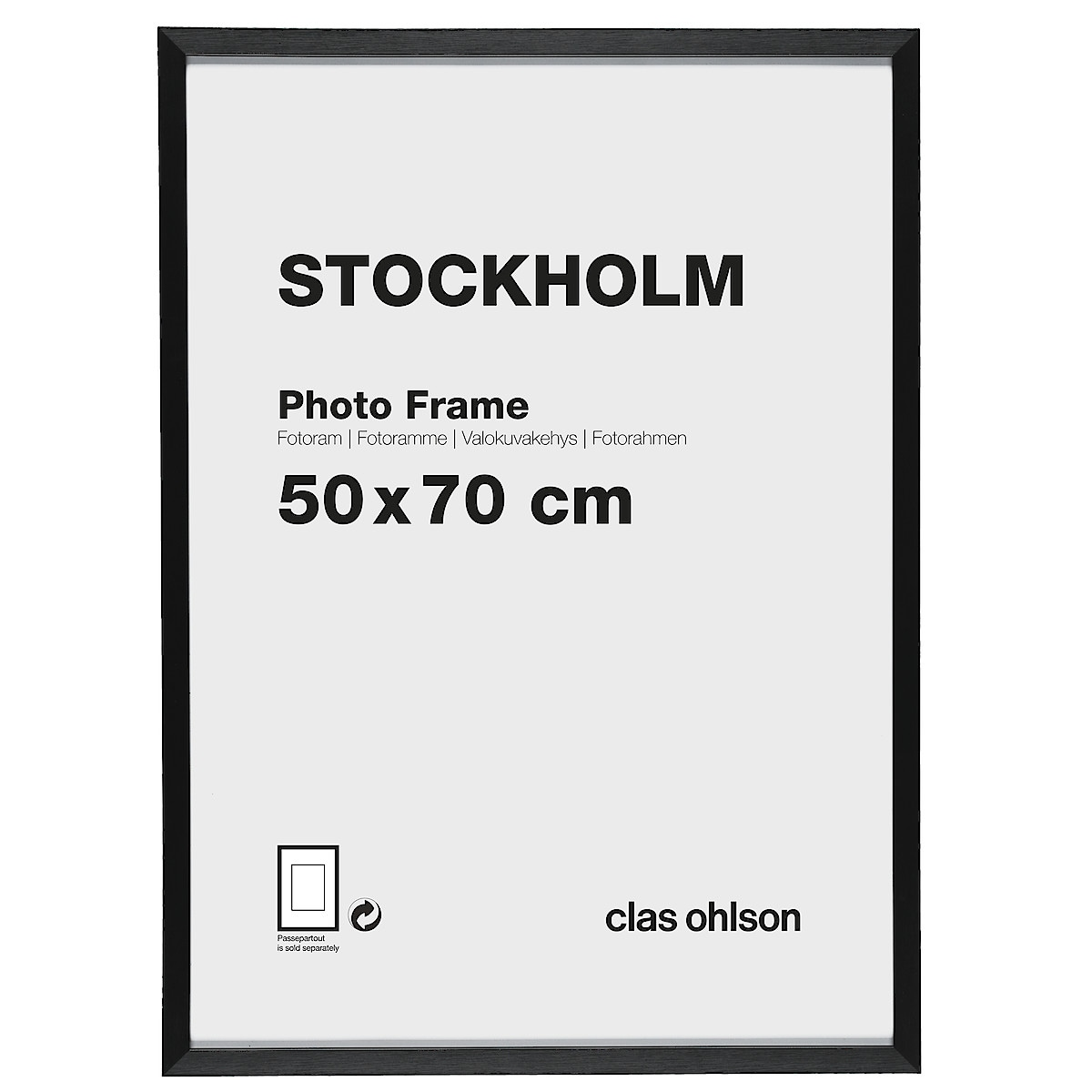 Stockholm Photo Frame – Black